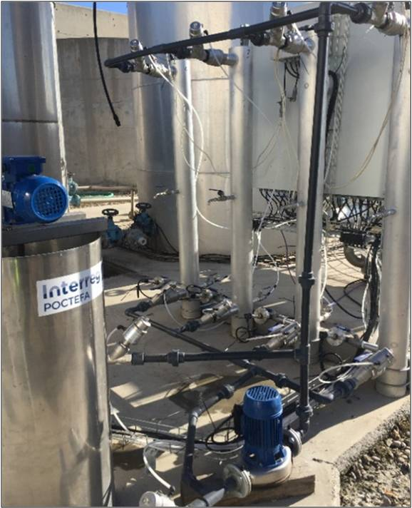 Les installations du pilote semi-industriel capable d'éliminer les antibiotiques dans les eaux usées. ©Outbiotics