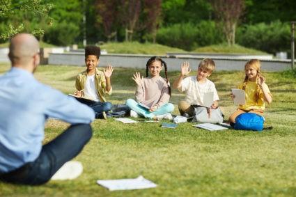 classe en plein air